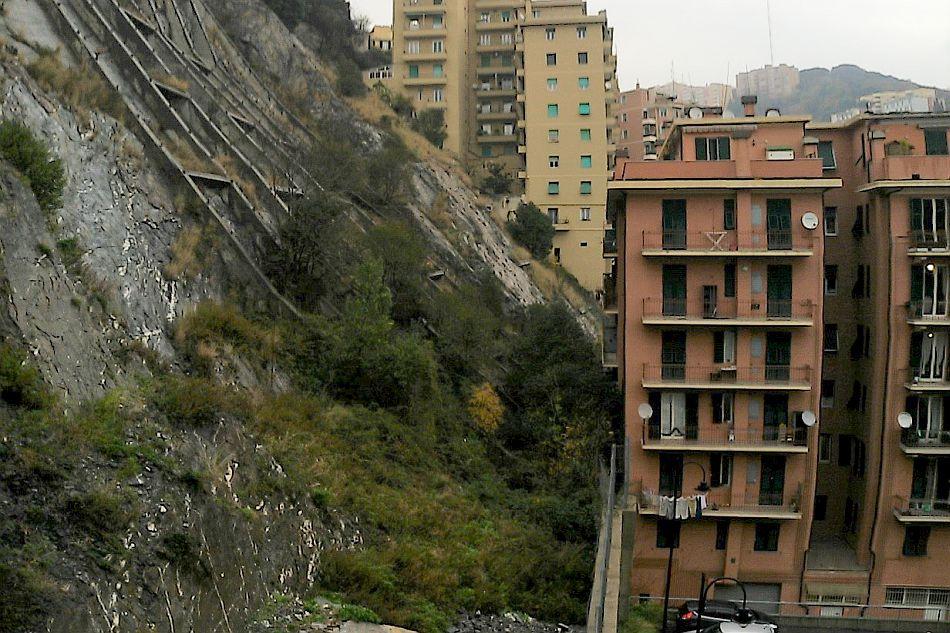 Genova, scarpata di frana in Via Digione (Collina degli Angeli) - Francesco Faccini, Università di Genova
